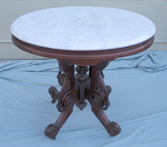 OUTSTANDING BROOKS MARBLE TOP PARLOR TABLE For Sale  : ori331 34266 904077 OUTSTANDING BROOKS MARBLE TOP PARLOR TABLE JRK1940422237 from www.antiques.com size 640 x 562 jpeg 37kB