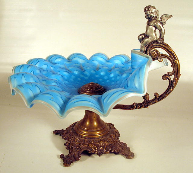 wmf brides basket bowl w  cupid mother of pearl for sale