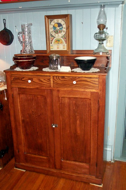 Chestnut And Oak Jelly Cupboard   For Sale