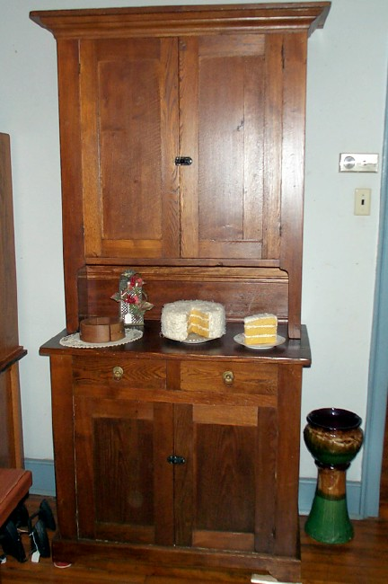 Oak and Chestnut Stepback Cupboard - For Sale - Oak And Chestnut Stepback Cupboard For Sale Antiques.com Classifieds