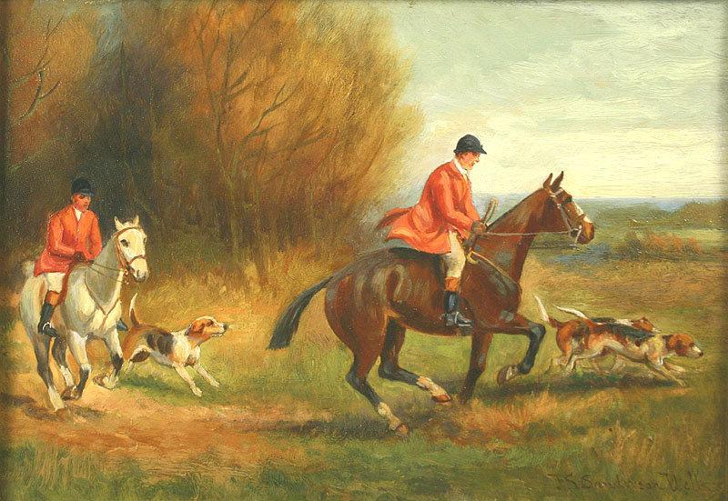 English Fox Hunting Oil Paintings