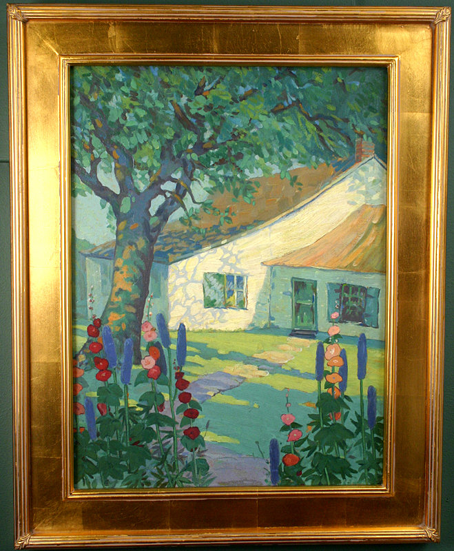 Jane Peterson Painting Of Cottage Amp Flower Garden For Sale