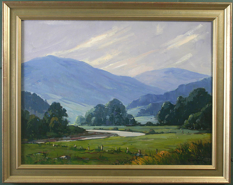 Robert Wesson Painting Of A Vermont Valley Landscape For