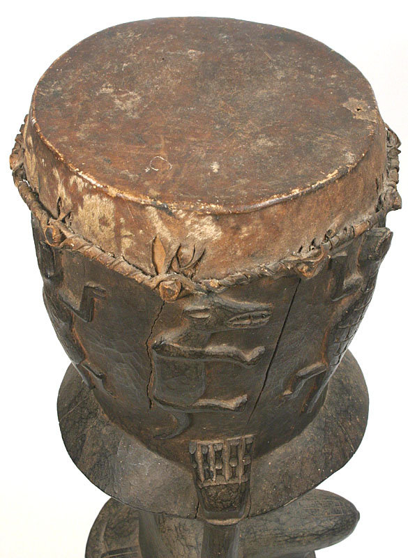 Senufo Ceremonial Drum African Ivory Coast For Sale