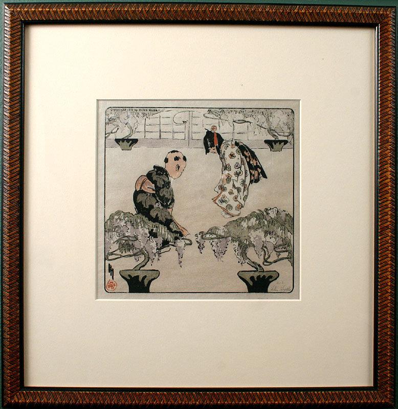 Helen Hyde Color Woodblock Print