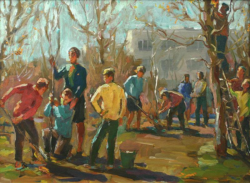 Vadim federovich korobov russian painting spring for sale