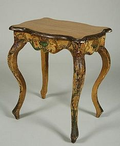 Late ThEarly Th Century Italian Rococo Side Table For Sale - Rococo side table