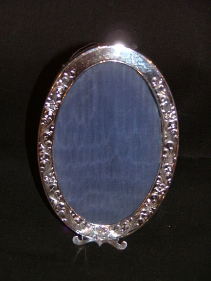 Sterling Silver Small Oval Picture Frame For Sale Antiques