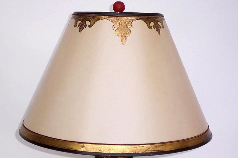 pair of italian style red polychromed lamps for sale. Black Bedroom Furniture Sets. Home Design Ideas