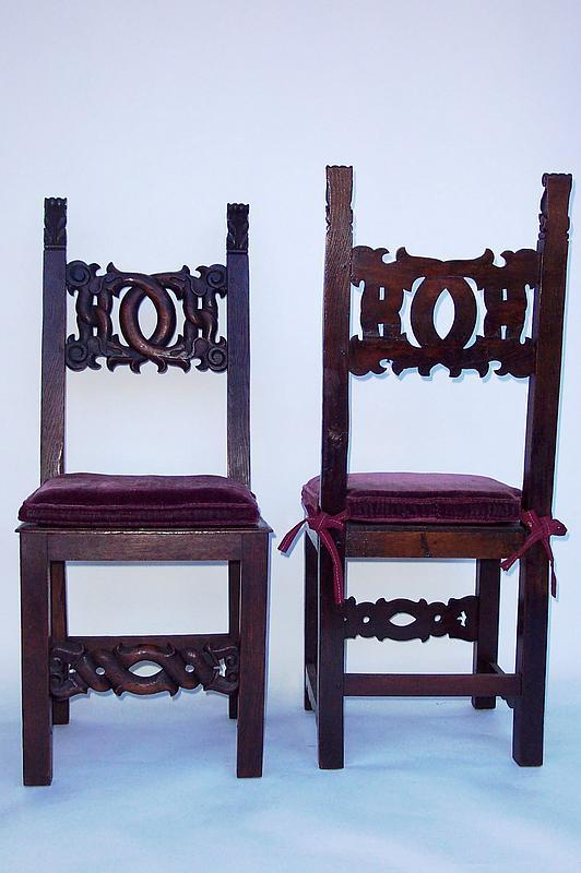 19th century spanish dining room chairs with cushions for
