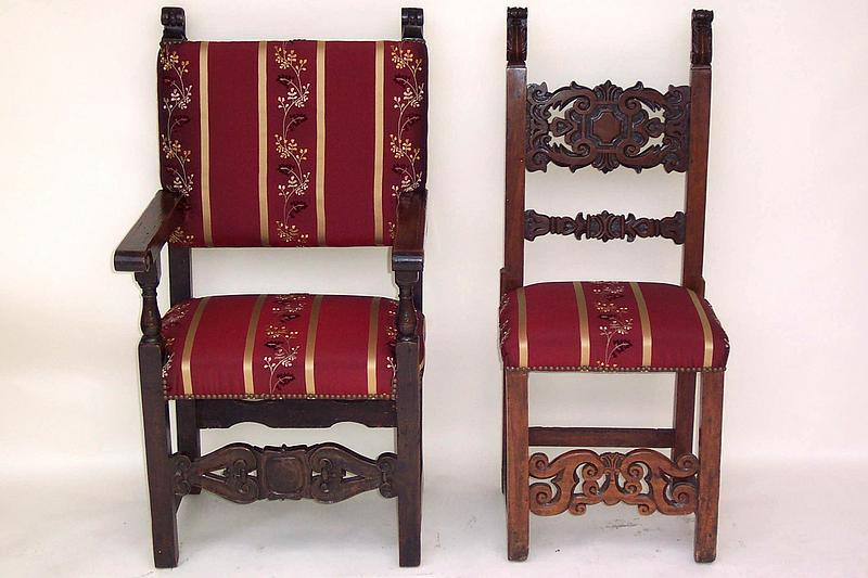 Two Pair of Antique Spanish Dining Chairs - Two Pair Of Antique Spanish Dining Chairs For Sale Antiques.com