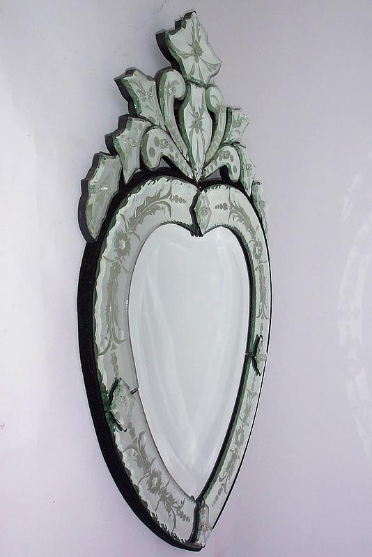Venetian Heart Shaped Mirror For Sale Antiques Com