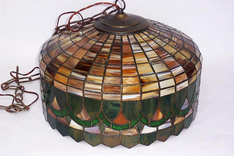 Colorful Tiffany style Chandelier Shade w Light Sockets For Sale | Antiques.com  | Classifieds - Colorful Tiffany Style Chandelier Shade W Light Sockets For Sale