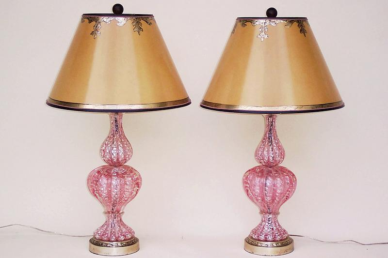 and pink murano glass lamps for sale classifieds. Black Bedroom Furniture Sets. Home Design Ideas