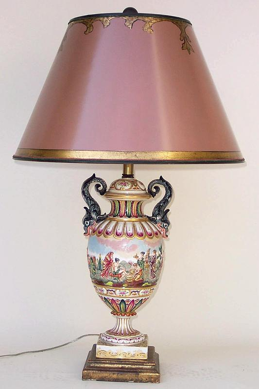 capodimonte porcelain table lamp for sale classifieds. Black Bedroom Furniture Sets. Home Design Ideas