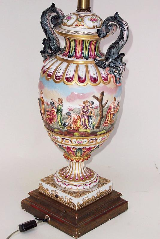 Capodimonte Porcelain Table Lamp : Antique capodimonte porcelain best decor ideas