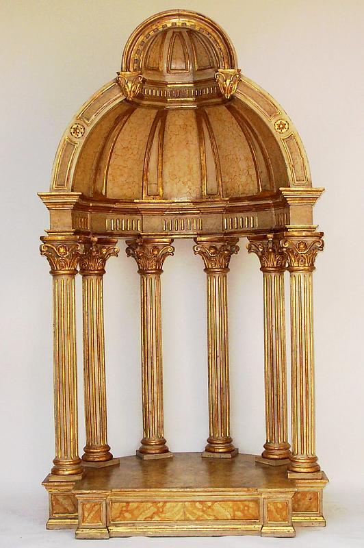 Massive antique italian baroque style tempietto for sale for Baroque architecture elements