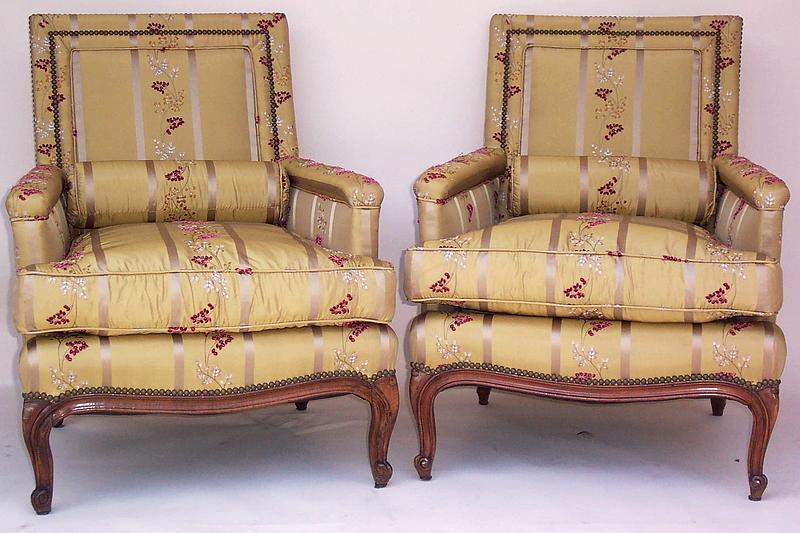 Two Vintage French Walnut Chairs Early 20th Century For Sale