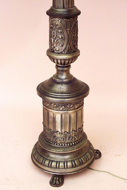 Vintage Italian Silver Gilt Floor Lamp For Sale Antiques