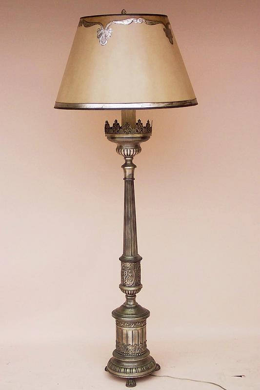 vintage italian silver gilt floor lamp for sale. Black Bedroom Furniture Sets. Home Design Ideas