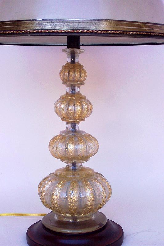vintage murano gold flecked four bubble table lamp for. Black Bedroom Furniture Sets. Home Design Ideas