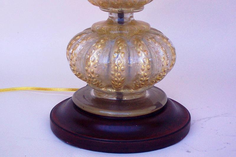 Antique Desk Lamps on Vintage Murano Gold Flecked Four Bubble Table Lamp  For Sale - Unique Floor Lamps: Grace Antique Brass Desk Lamplighting Enlightenment