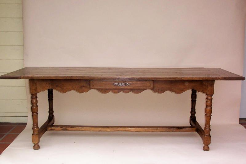Antique french oak trestle table for sale for 1 oak nyc table prices