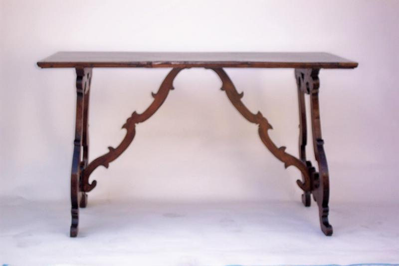Charmant The Rectangular Top Is Raised On Pierced Shaped End Supports And Joined By  Scrolling Stretchers, Well Proportioned Spanish Baroque Style Walnut Table.