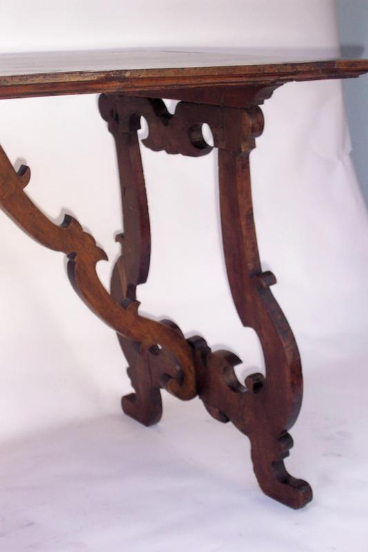 Spanish baroque style walnut table for sale for Spanish baroque furniture