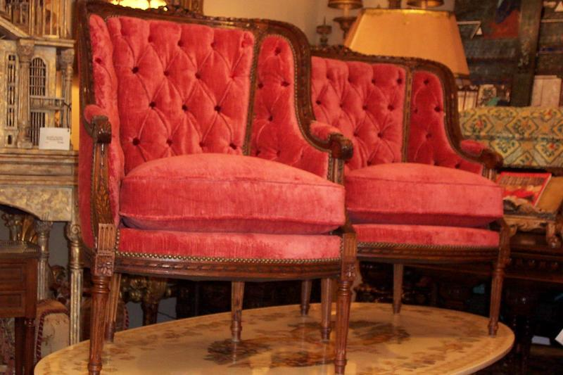 Pair of Louis XVI Style Beechwood Bergeres Chairs For Sale   Antiques com    ClassifiedsPair of Louis XVI Style Beechwood Bergeres Chairs For Sale  . Louis Xvi Style Furniture For Sale. Home Design Ideas