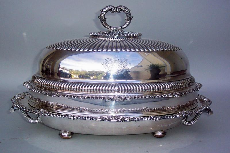Regency Period Sheffield Tureen, Platter with Cover For