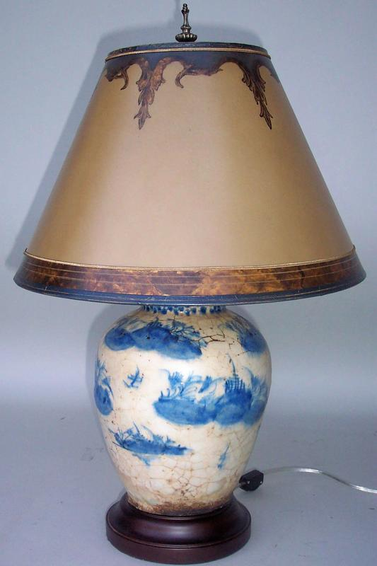 blue and white chinese vase lamp for sale. Black Bedroom Furniture Sets. Home Design Ideas