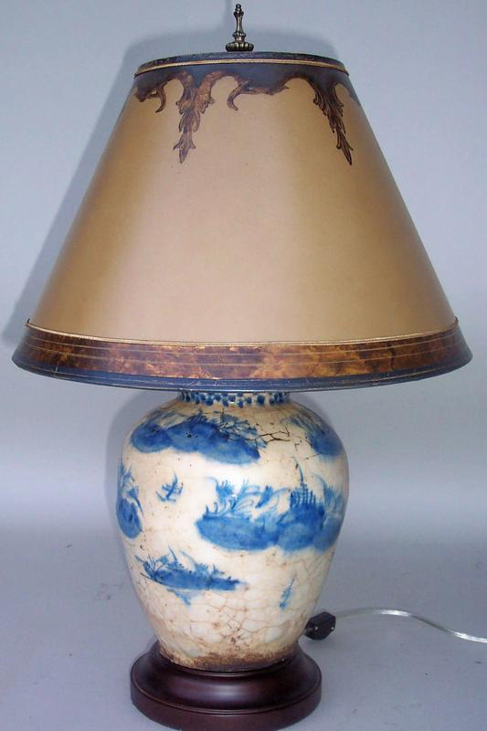 Blue And White Chinese Vase Lamp For Sale Antiques Classifieds