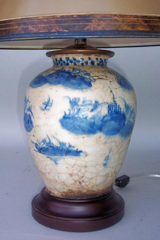 Blue And White Chinese Vase Lamp For Sale Antiques Com
