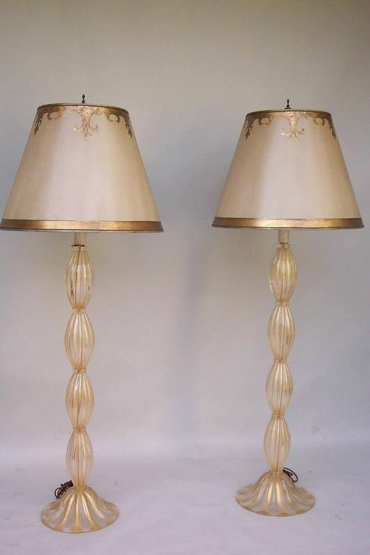 Murano glass table lamps image collections table furniture design pair of murano glass floor or tall table lamps for sale antiques mozeypictures Image collections