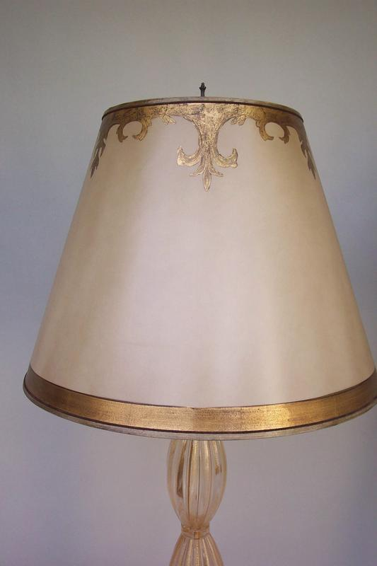 Pair of murano glass floor or tall table lamps for sale antiques exceptional pair of gold inclusion murano floor lamps that could be used as tall table lamps for the right room h575 the hand painted parchment shades mozeypictures Images