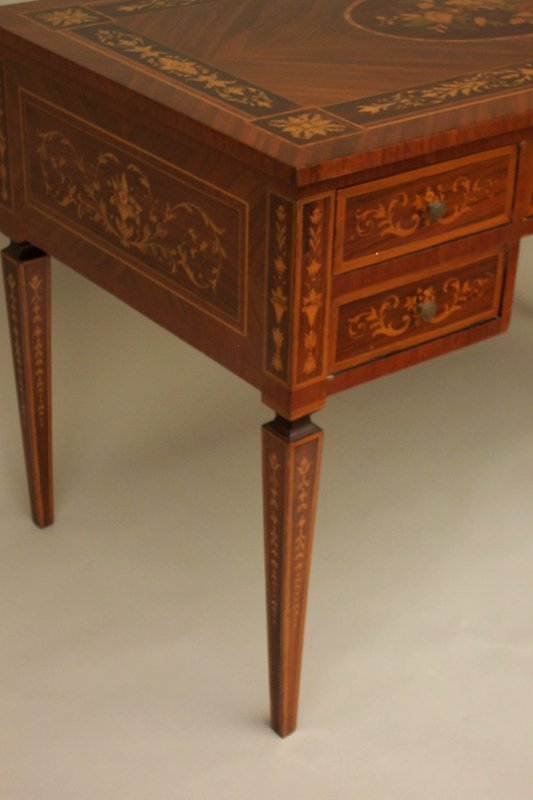 Exceptional Neo Classical Marquetry Desk For Sale  Antiques.com ...