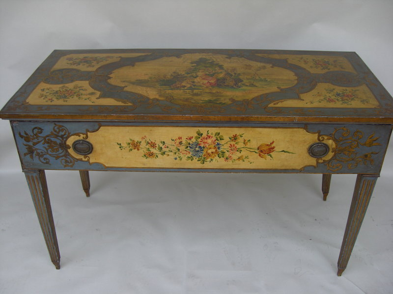 Antique italian paint decorated console table for sale classifieds - Used console table for sale ...