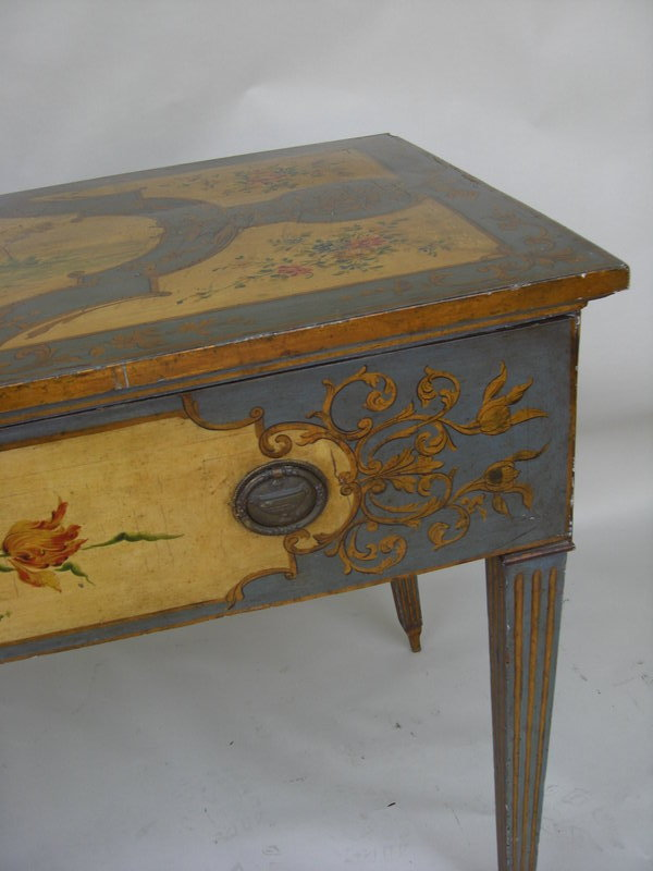 Antique Italian Paint Decorated Console Table For Sale