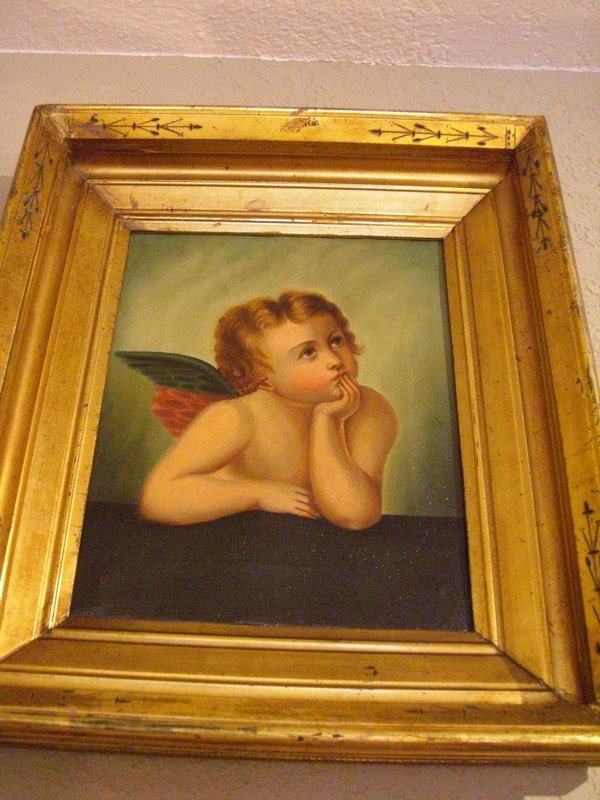 Pair of century northern italian angel paintings for Angel paintings for sale