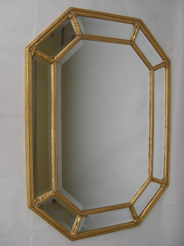 decorative gilt frame beveled glass mirror for sale classifieds. Black Bedroom Furniture Sets. Home Design Ideas