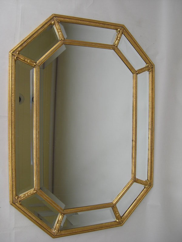 Decorative gilt frame beveled glass mirror for sale for Fancy mirrors for sale