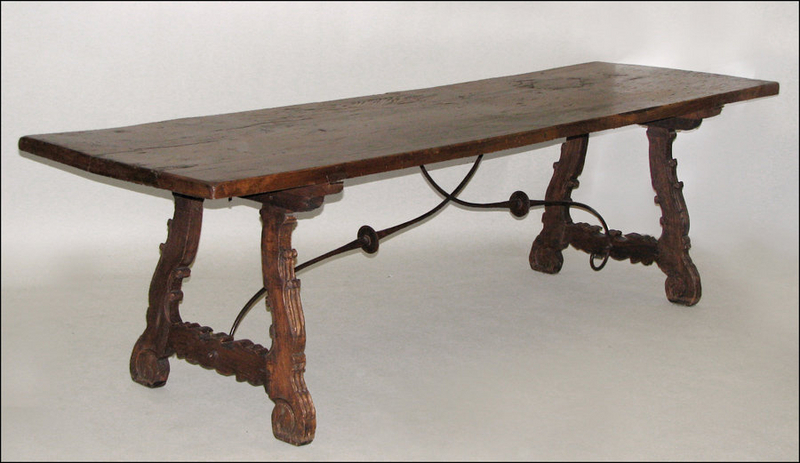 Dining table antique spanish dining table for Table in spanish