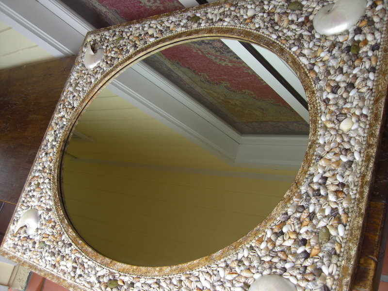 Decorative speciality shell mirror for sale for Fancy mirrors for sale