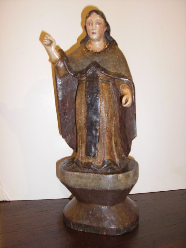 Decorative Statues For Living Room India: 19th Century Santos In Decorative Cloak For Sale