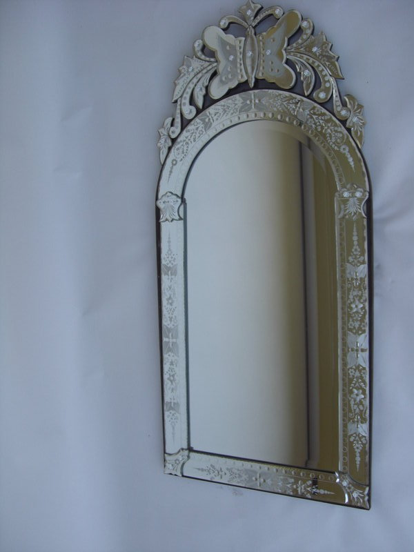 Decorative venetian mirror with etching for sale for Fancy mirrors for sale