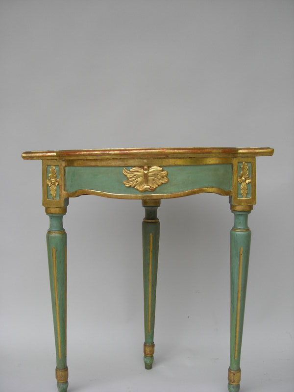 Antique polychromed painted gilt corner table for sale - Resource furniture espana ...