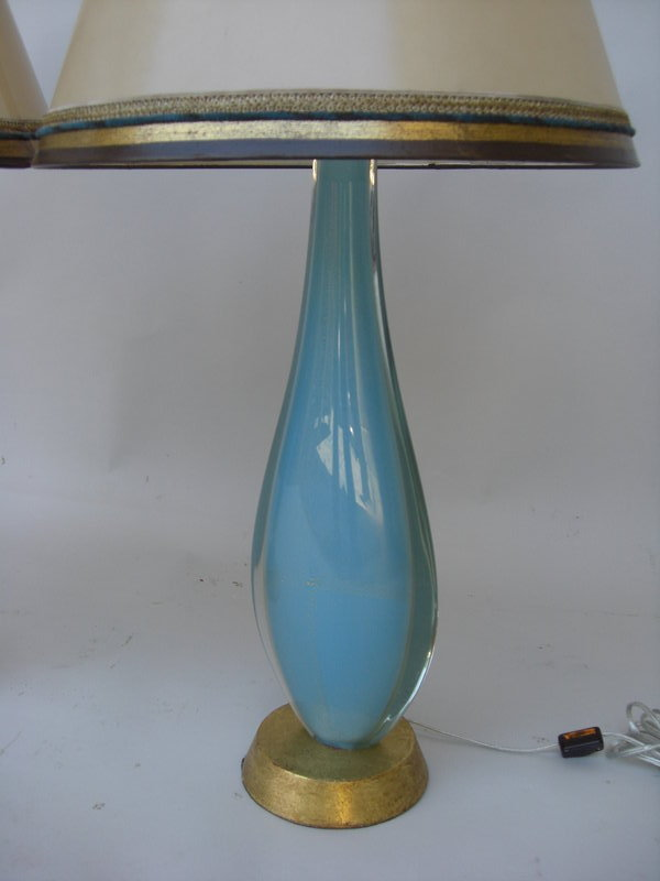 1940 venetian aqua glass lamps for sale classifieds. Black Bedroom Furniture Sets. Home Design Ideas