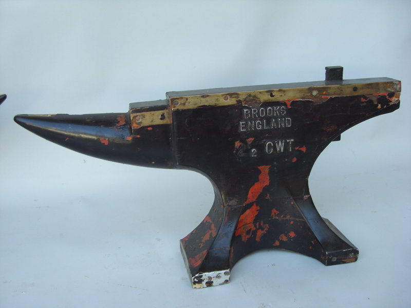 Antique English Polychromed Painted Wooden Anvils For Sale