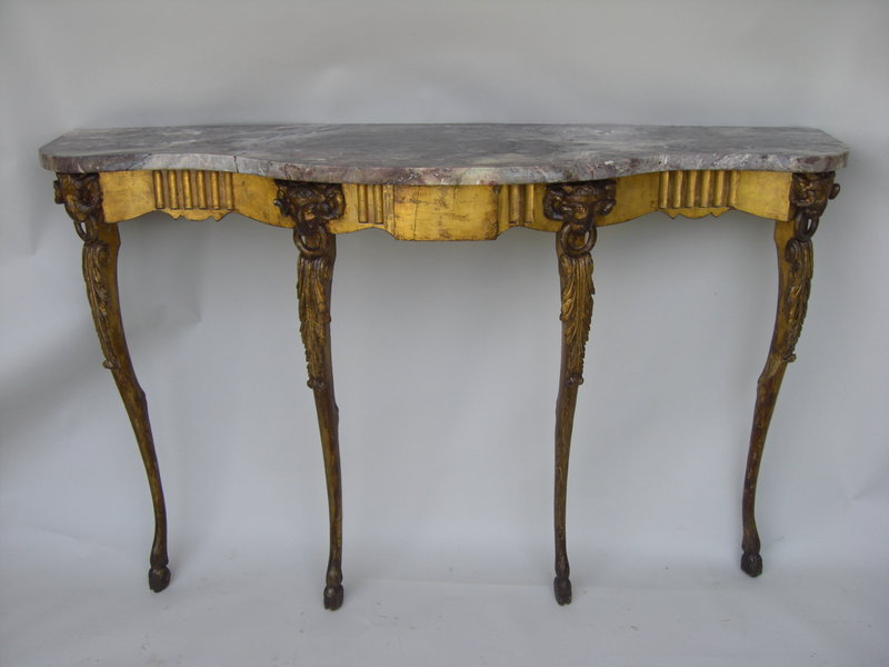 18th 19th c italian neoclassical gilt marble console for - Resource furniture espana ...